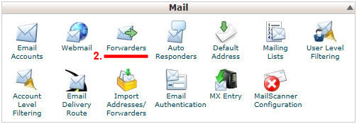 Cpanel Mail Menu